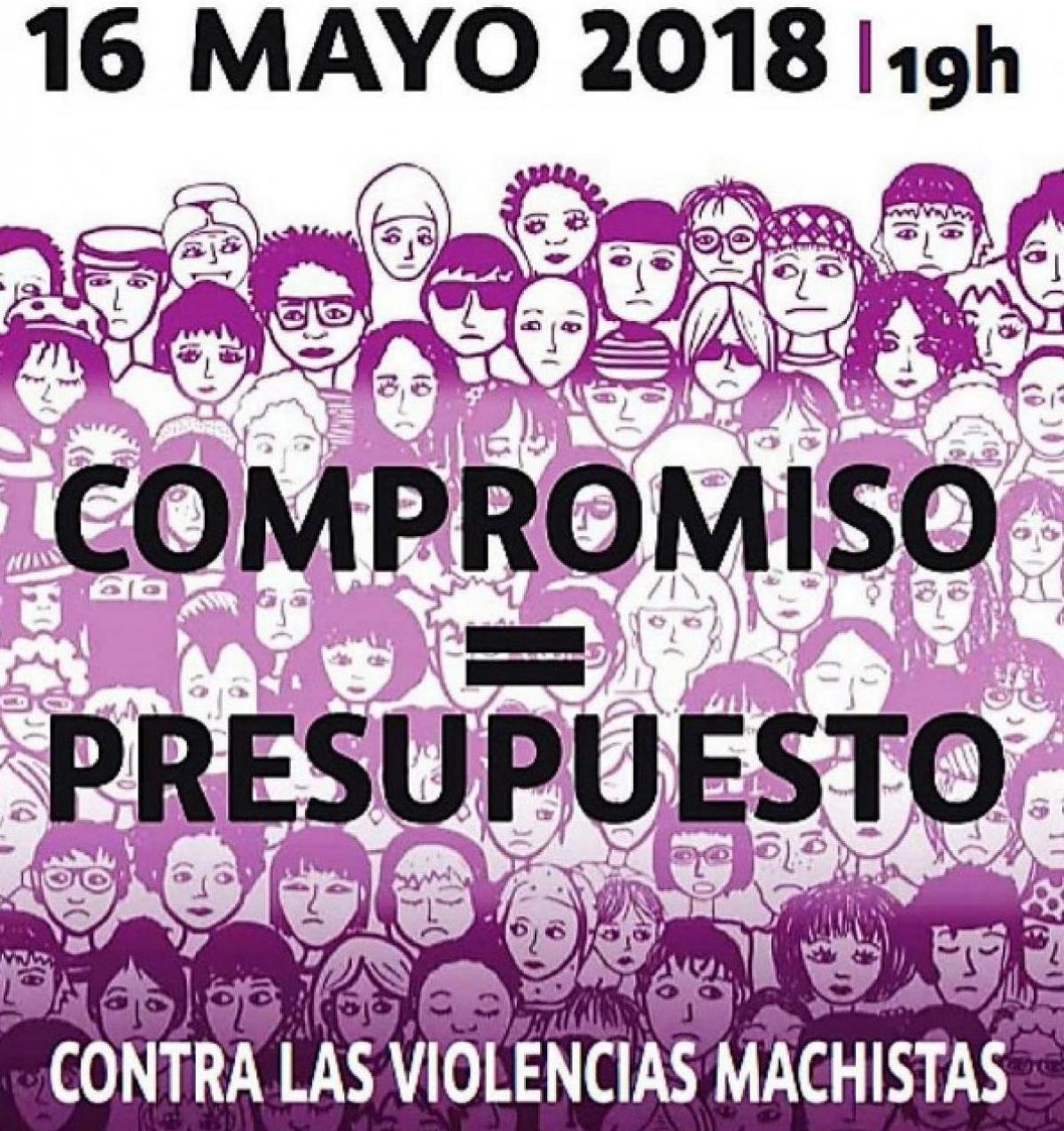 Cartel movilización feminista 16M