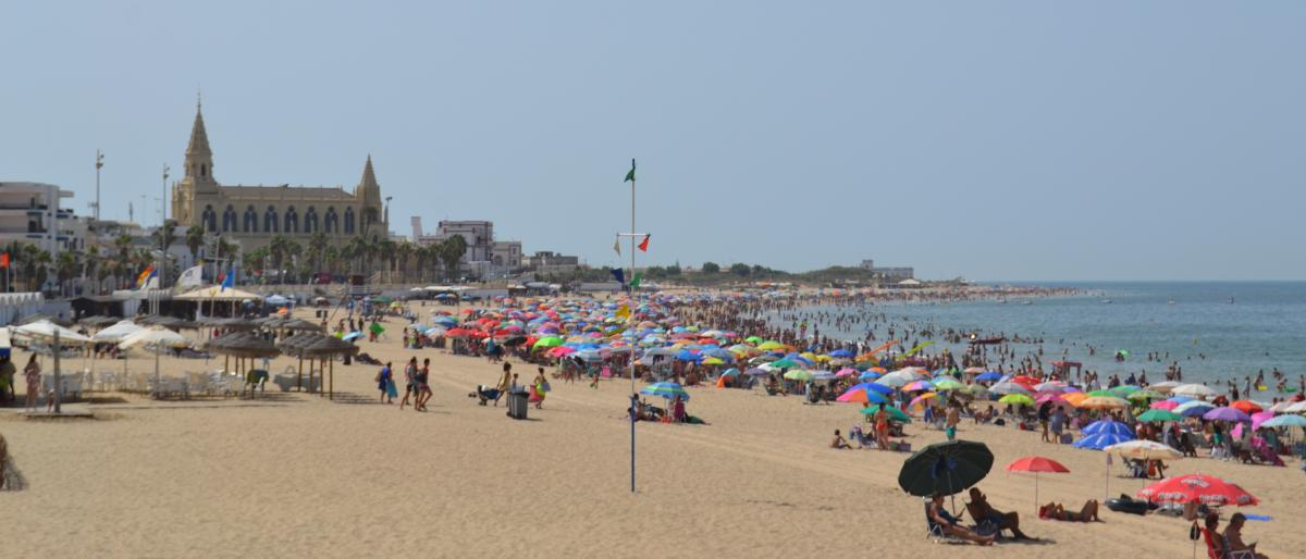 Playa de Chipiona en Cádiz