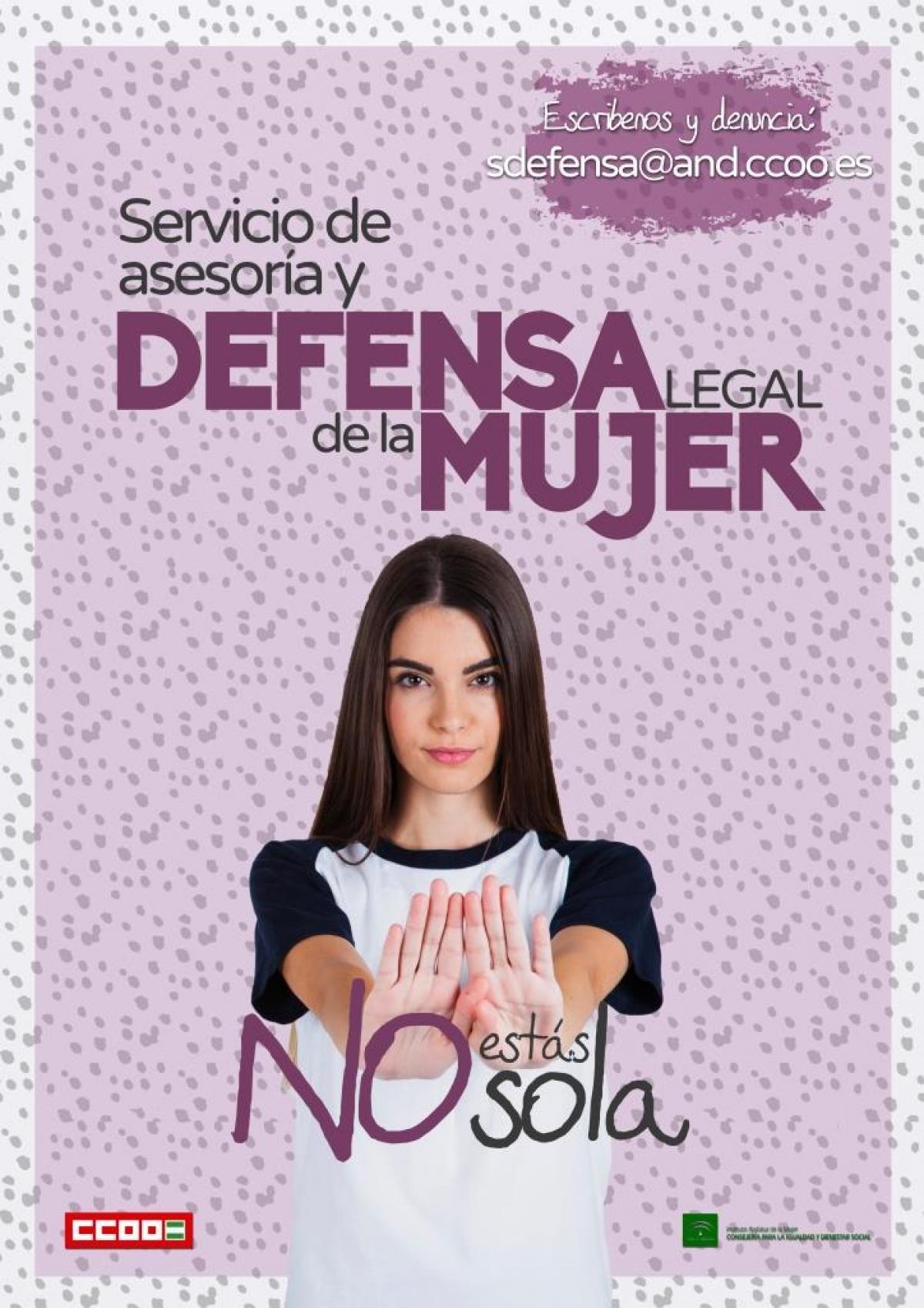 CCOO Andalucia ofrece Defensa Legal gratuita en caso de discriminación laboral por razón de género